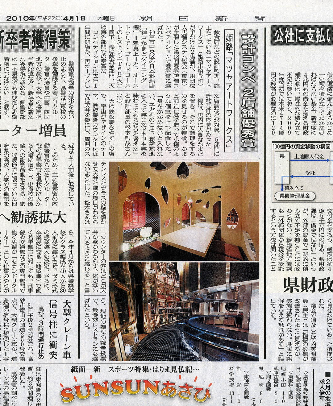 神戸新聞掲載欄